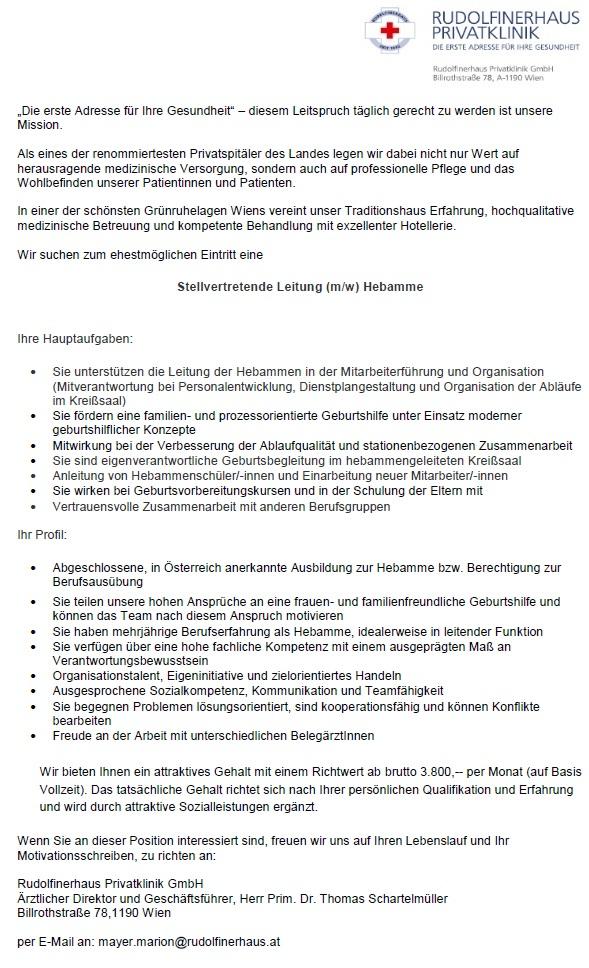 Rudolfinerhaus-stv.Leitung